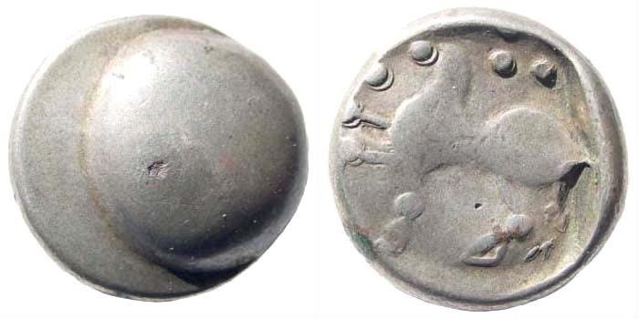 Ancient Coins - Eastern Europe, Imitations of Philip II of Macedon. 2nd-1st centuries BC. AR Tetradrachm (9.80 gm, 20mm). Buckelavers type. Lanz 681-2