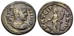 Ancient Coins - Lydia, Thyateira. Caracalla, 198-217 AD. AE 20mm (4.07 gm). SNG Copenhagen 610