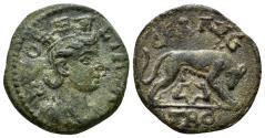 Ancient Coins - Troas, Alexandria. Time of Valerian to Gallienus. Circa. 250-268 AD. AE 21mm (5.36 gm). SNG Copenhagen 107