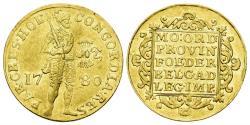 World Coins - Netherlands, Holland Province. AV Ducat (3.49 gm, 22mm). Dated 1780. KM 12