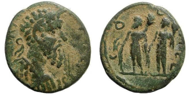 Ancient Coins - Syria, Coele-Syria. Heliopolis. Septimius Severus. 193-211 AD. AE 24mm (7.94 gm). Cf. SNG Copenhagen 428 (radiate bust)