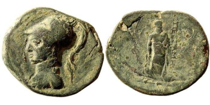 Ancient Coins - Mysia, Pergamon. 133 BC – Imperial Times. AE 26mm (9.65 gm). SNG BN Paris 5, 1770; SNG Tübingen 2444