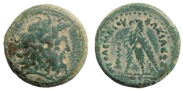 Ancient Coins - Ptolemaic Kingdom. Ptolemy II Philadelphos. 285-246 BC. AE  19mm (5.59 gm, 12h). Tyre mint. Struck 249-246 BC. Svoronos 709; SNG Copenhagen 496