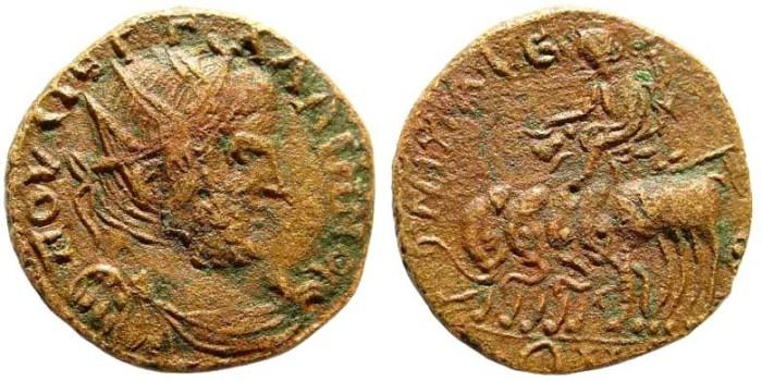 Ancient Coins - Bithynia, Nikaia. Gallienus, 253 - 268 AD. AE 22mm (5.82 gm). Rec. gén. II 1 836; Köln, Bithynien I -; BMC 177, 154. Rare