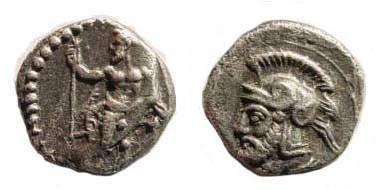Ancient Coins - Cilicia, Tarsos, Pharnabazos, 379-374 BC, AR