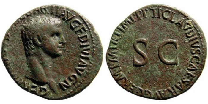 Ancient Coins - Germanicus, father of Caligula. Died 19 AD. AE As (29mm, 10.84 gm). RIC I 106 (Claudius)