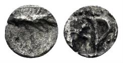 Ancient Coins - Asia Minor, Uncertain. 5th-4th centuries BC. AR Fraction (0.13 gm, 5.5mm). CNG Elec. Auc. 387, lot 208
