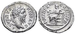 Ancient Coins - Septimius Severus. 193-211 AD. AR Denarius (3.03 gm, 21mm). Rome mint. Struck 209 AD. RIC IV 230