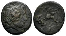 Ancient Coins - Mysia, Parion. Circa 2nd-1st Century BC. AE 20mm (8.12 gm). Interesting countermarks