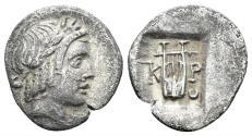 Ancient Coins - Lykian League, Kragos. Period IV. Circa 48-42 BC. AR Hemidrachm. Troxell -