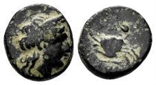 Ancient Coins - Mysia, Priapos. Circa 3rd century BC. AE 11mm (1.39 gm). SNG von Aulock 7526