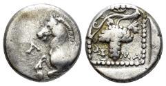 Ancient Coins - Thrace. Maroneia. Circa 398-385 BC. AR Tetrobol (2,65 gm, 13mm). ΑΝΘ- (Anth-), magistrate. Schönert-Geiss 251/3