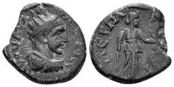 Ancient Coins - Pamphylia, Perga. Elagabalus. 218-222 AD. AE 18mm (3.68 gm). BMC 128.43. Rare