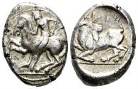 Ancient Coins - Kilikia, Kelenderis. Circa 410-375 BC. AR Stater (10.64 gm, 20mm). SNG France 51