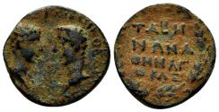 Ancient Coins - Karia, Tabai. Germanicus, with Drusus. Caesar, 15 BC-19 AD. AE 20mm (7.23 gm). RPC I 2871