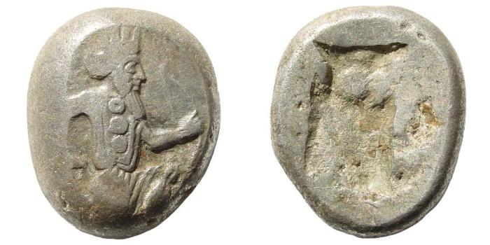 Ancient Coins - Achaemenid Kings. Circa 375-340 BC. AR Siglos (5.49 gm, 15mm). Carradice, Taf. XV, 46