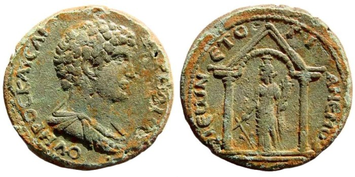 Ancient Coins - Kilikia, Anemourion. Marcus Aurelius, as Caesar, 139-161 AD. AE 32mm (12.84 gm). SNG PfPs 324. Very rare