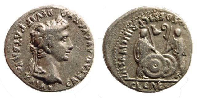 Ancient Coins - Augustus. 27 BC-14 AD. AR Denarius (3.67 gm, 18.91 mm, 6h). Lugdunum (Lyon) mint. Struck 2 BC-14 AD. RIC I 207; Lyon 81/5 (D363/R400); BMCRE 519; BN 1656; RSC 43. Very fine