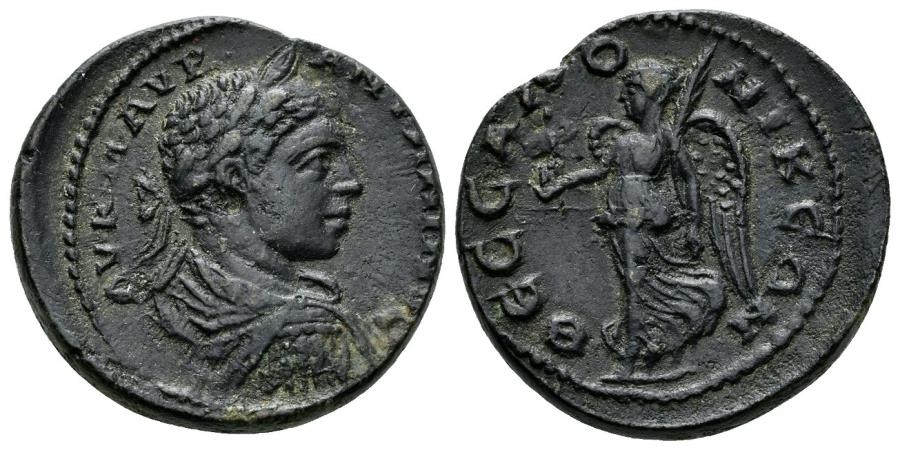 Ancient Coins - Macedon, Thessalonica. Elagabalus. 218-222 AD. AE 25 (11.18 gm). Varbanov 4444