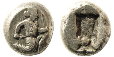 Ancient Coins - Achaemenid Kings. Circa 375-340 BC. AR Siglos (5.58 gm, 15mm). Carradice, Taf. XV, 46