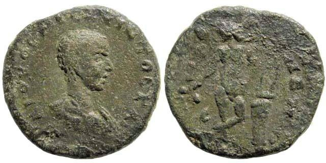 Ancient Coins - Cilicia, Anazarbus. Hostilian, as Caesar. 250 AD. AE 21mm (8.90 gm). Dated year 269 =250/1 AD. SNG PFPS 244; Ziegler, Anazarbos 755.2