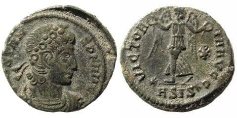 Ancient Coins - Constans. 337-350 AD. Æ3/ AE 17mm (1.35 gm). Siscia mint, 341-346. LRBC 789