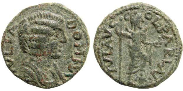 Ancient Coins - Pisidia, Parlais. Domna, wife of Septimius Severus. 193-217 AD. AE 21mm (5.41 gm). von Aulock 5137 (same obverse die)