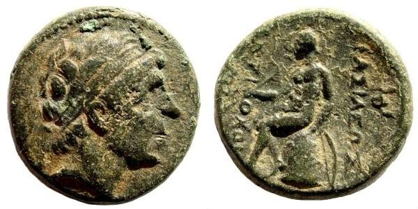 Ancient Coins - Seleucid Kingdom. Antiochus I, 280-261 BC. AE 16mm (3.80 gm). SNG Spear 208