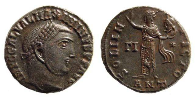 Ancient Coins - Maximinus II, 309-312 AD, AE Follis (5.52 gm, 20.05 mm, 6h). Antioch 312. RIC 167b. Almost extremely fine