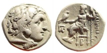 Ancient Coins - Macedonian Kingdom. Philip III Arrhidaios. 323-317 BC. AR Drachm (4.25 g, 17mm). Kolophon mint. Struck circa 322-319 BC. Price P48