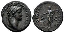 Ancient Coins - Nero. 54-68 AD. AE As (7.28 gm, 22mm). Rome mint. Struck circa 64 AD. RIC I 215