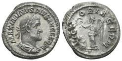 Ancient Coins - Maximinus I, 235-238 AD. AR Denarius (2.77 gm, 20mm). Rome mint. Struck 236-237 AD. RIC IV 142