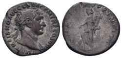 Ancient Coins - Trajan. 198-217 AD. AR Denarius (2.97 gm, 18mm). Rome mint. Struck 103-111 AD. RIC II 190a