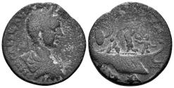 Ancient Coins - Phoenicia, Tyre. Elagabalus. 218-222 AD. AE 26mm (11.61 gm, 25mm). BMC 410. Queen Dido