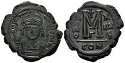 Ancient Coins - Justinian I. 527-565. AE 40 Nummi - Follis (17.86 gm, 32mm). Constantinople mint, 3rd officina. Dated RY 35 (562/3). SB 163