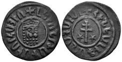 World Coins - Kingdom of Cilician Armenia. Levon I, 1198-1219. AE Tank (6.12 gm, 29mm). Nercessian 303