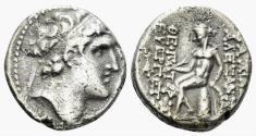 Ancient Coins - Seleukid Kingdom. Alexander I (Balas). 152/1-145 BC. AR Drachm (3.88 gm, 16mm). Antioch mint. SMA 173