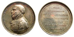 World Coins - Netherlands. 1845. AR Medal (31.86 gm, 47mm). Made by J.P. Schouberg. For I.J. Dermout. Dirks 644. Rare