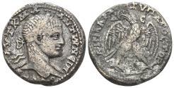 Ancient Coins - Syria, Seleucis and Pieria. Antioch. Elagabalus. 218-222 AD. BI Tetradrachm (13.19 gm, 26mm). Prieur 249