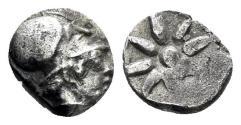 Ancient Coins - Ionia, Uncertain. 5th century BC. AR Hemiobol (0.45 gm, 7mm). CNG 84 (2010), 640. Rare