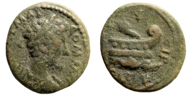 Ancient Coins - Thrace, Coela. Commodus, 177-192 AD. AE 19mm (3.00 gm). SNG Copenhagen 874