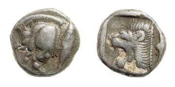Ancient Coins - Mysia, Kyzikos, ca. 510-475 BC, AR (1.23 gm, 10mm). SNG Kayan 54
