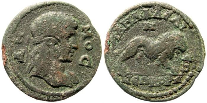 Ancient Coins - Lydia, Philadelphia. 3rd century AD. AE 26mm (6.55 gm). BMC 42; SNG Copenhagen 359