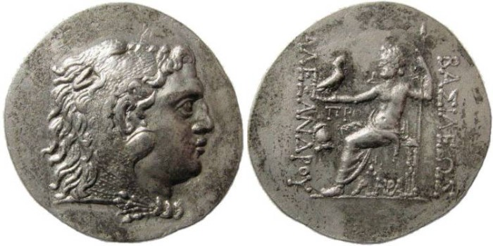 Ancient Coins - Macedonian Kings. Alexander III. 336-323 BC. AR Tetradrachm (16.16 gm). Mesembria mint (Thrace). struck 125-65 BC. Price 1085