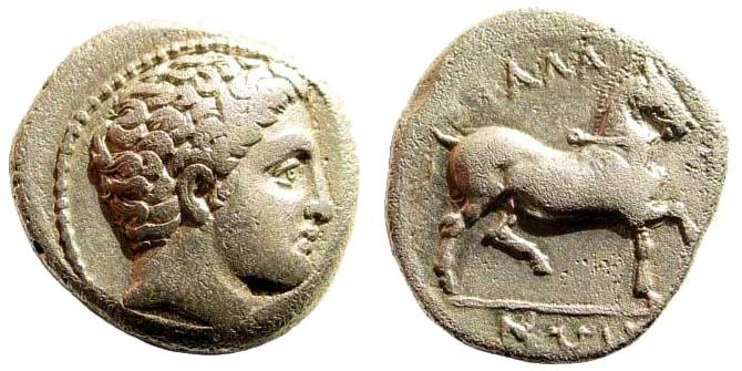Ancient Coins - Thessaly, Phalanna. Early 4th century BC. AR Drachm (19mm, 5.42 g, 8h). BCD Thessaly -; SNG Copenhagen 199
