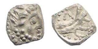 Ancient Coins - Cilicia uncertain, 4th century BC, AR Obol (9.84 mm, 0.63 gm.). Klein 652; SNG von Aulock 8656; SNG Copenhagen 319