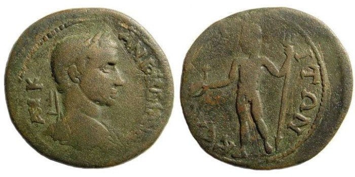 Ancient Coins - Cilicia, Kelenderis. Gordian III 238-244 AD. AE 30mm (11.60 gm). SNG Levante 553 (this coin)