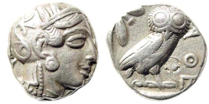 Ancient Coins - Attica, Athens. Circa 435 BC. AR Tetradrachm (17.19 gm, 23mm). Svoronos, A. pl. 16, 5