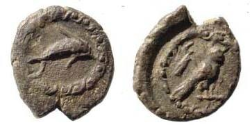 Ancient Coins - Phoenicia, Tyre, circa 425 BC, AR 1/12 Shekel (0.64 gm, 9.34 mm, 6h). Sear 5909. Toned attractive very fine