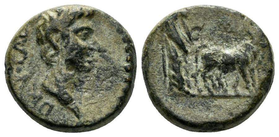 Ancient Coins - Macedon, Uncertain (Philippi?) or Mysia, Parion. Drusus. Caesar, 19-23 AD. AE 18mm (3.34 gm). RPC 1659